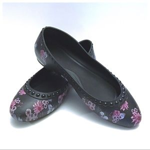 Exc. Condition ~ Crocs Lina Floral Flats - Size 10